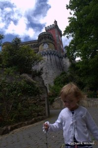 Zoë Walking to the Castle on Her Own