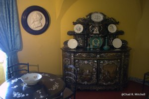 Intricately Carved Furniture in One of the Sitting Rooms
