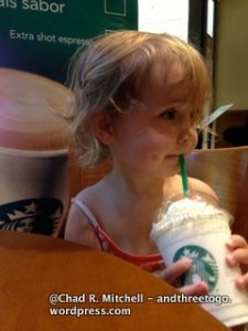 Like Mother Like Daughter-Zoë Loves Her Starbucks