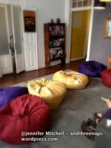 Common Area: Beanbags make everyone relax.