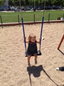 Zoë's First Time on a Big Girl Swing Photo Taken By Jennifer Mitchell
