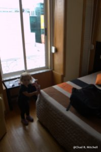 Zoë Checking Out the Room