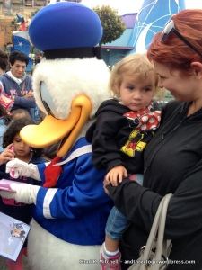 Zoë and I's Only Chance to Get a Picture With Donald Duck-We Were First To Get There Too!