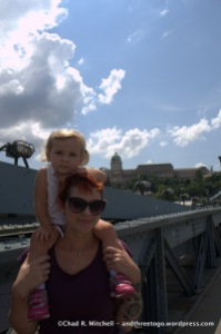 My New Haircut and Zoë on the Chain Bridge in Budapest