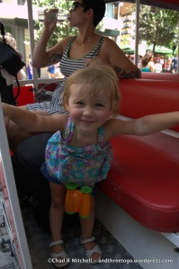 """Zoë loved the """"Choo Choo"""" also known as the Happy Train"""