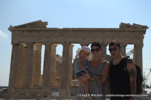 All Three of Us in Front of the Parthenon