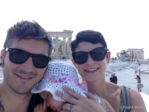 The three of us at the Parthenon, Athens, Greece July 2013