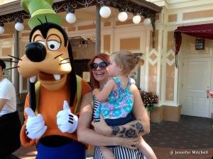 Zoë, Goofy, and Jen at Disneyland April 2013