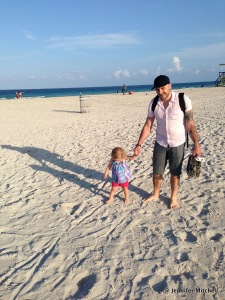Chad and Zoë at South Beach, Miami, FL April 2013