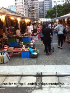A rummage sale (tons of vintage things) we happened upon while walking in the Xinyi district