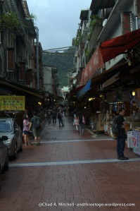 The main thoroughfare through Wulai