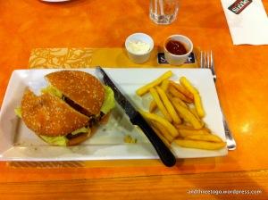 This was a really good hamburger