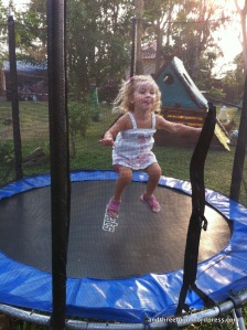 "We found a playground at a place called ""Magic Balloon"" and Zoë found out she loves the trampoline."