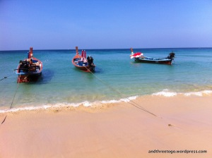 This is Karon Beach.  Gorgeous is not a good enough word to describe it.
