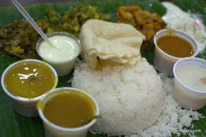 The Rice Plate at Komala Vilas Restaurant.