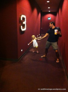 Zoë at her first movie in the  theater!