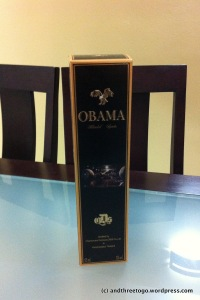 Obama Blended Spirits. Funny name, not bad tasting though.