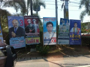 Election posters on the street.