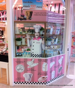 A Beauty Buffet Store. I am not sure why a gentleman chef mascot would make me want to buy their make-up?! I wonder if this marketing theme works?