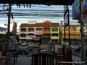 View of townhouses from one of my new favorite restaurants. (More about that in Fridays post!)